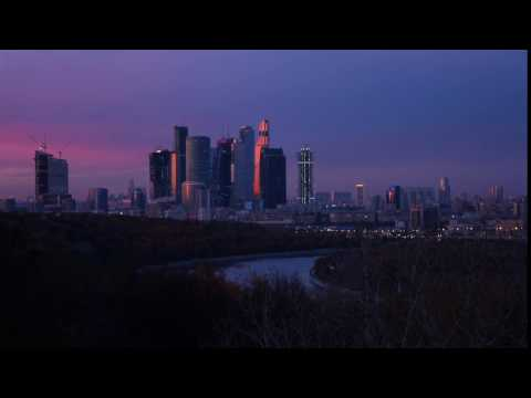 Moscow City Skyline TIMELAPSE