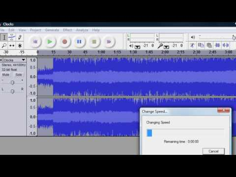 Audacity: speed up an audio track without having chipmunk voice