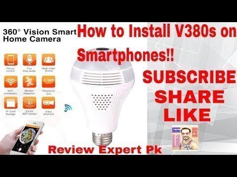 V380s Panoramic Camera 360 hidden camera   installation on Smartphones
