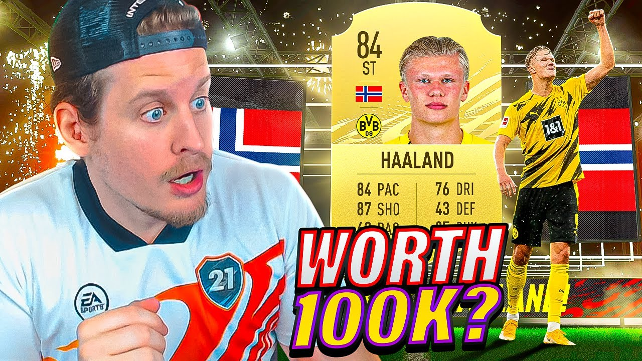 IS HE WORTH 100K?! 84 ERLING HAALAND PLAYER REVIEW! FIFA 21 Ultimate Team