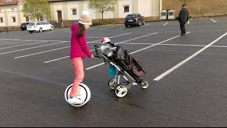NINEBOT ONE E and GOLF TROLLEY