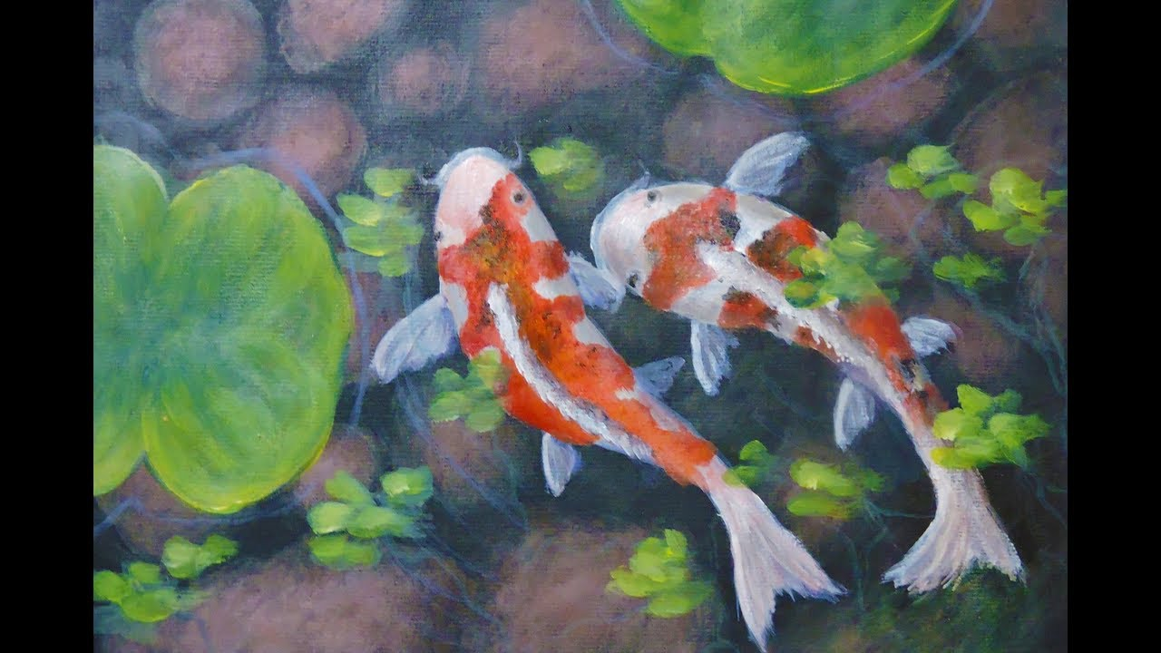 Acrylic Paintings Of Goldfish