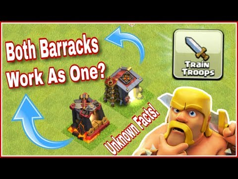 BARRACKS & DARK BARRACKS TROOPS Are Trained One By One! WHY?  | COC Unknown Facts!