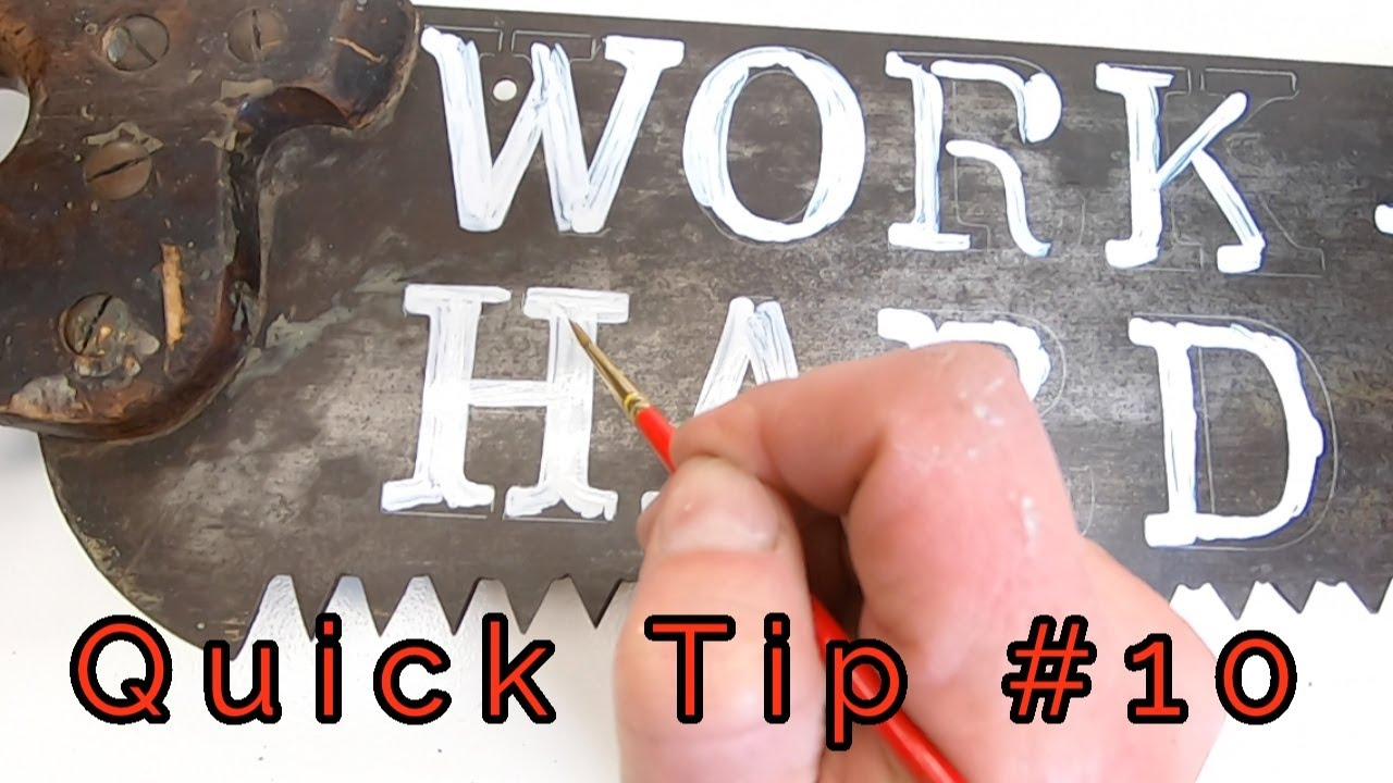 Quick Tip 10 Painting An Old Saw Blade Youtube