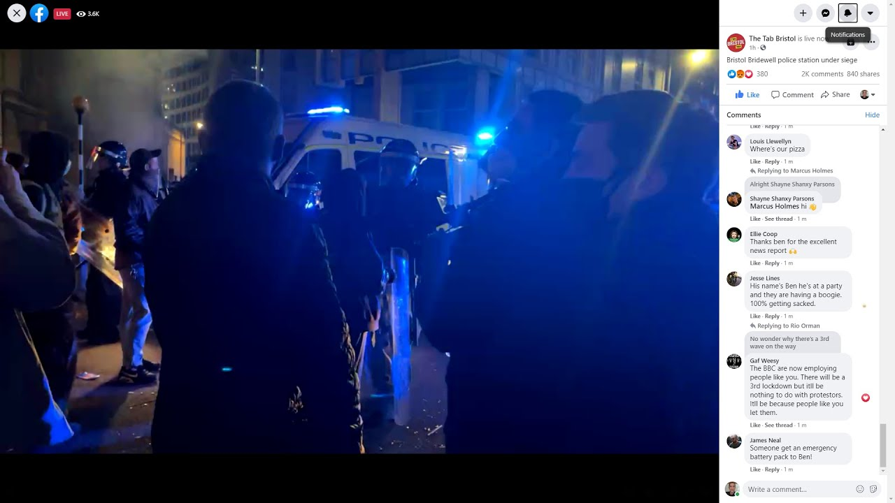 Download (UK) Bristol Police Station Under Siege From Protestors
