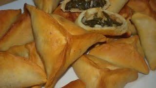 الطريقة ألاصلية لعمل فطائر السبانخ اللبنانية المقرمشة  Lebanese Spinach Fatayer thumbnail