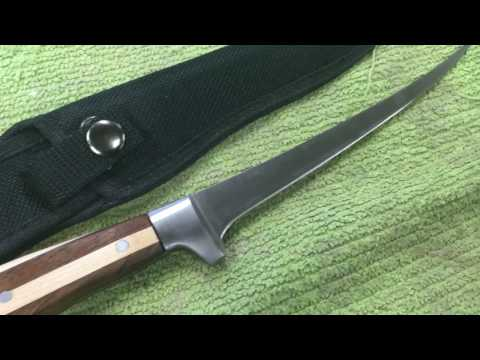 Quick and Easy Fillet Knife Wood Handle Scales.
