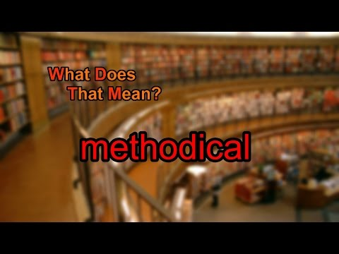 What does methodical mean?