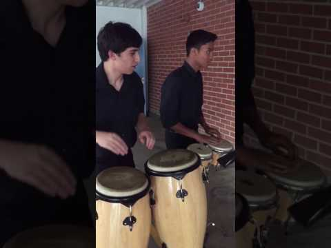 Chase & Ramtin (T-Rex) Play Bongos and Congas