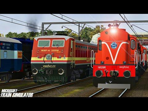Loco Change Electric to Diesel || Ramnagar Express || MSTS Open Rails Journey Part 1