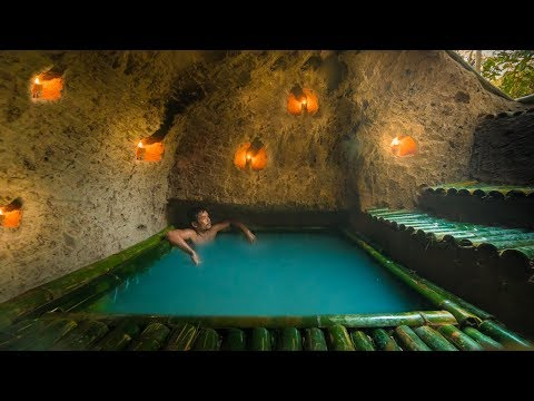 Dig to Build Amazing Secret Bamboo House with Bamboo Swimming Pool by Jungle Survival
