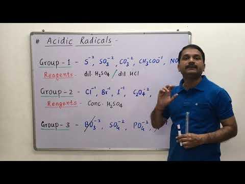 Qualitative Analysis of Inorganic Salts [Acidic Radicals] / Practical of Salt Analysis Class 11 & 12
