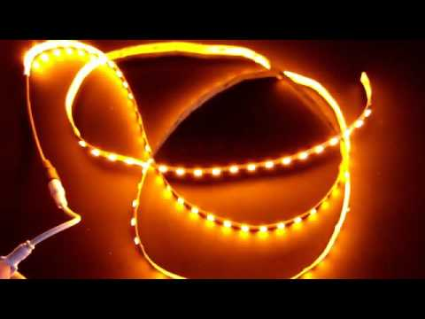 5050 60 orange color ip20 led strip light youtube 5050 60 orange color ip20 led strip light aloadofball Image collections