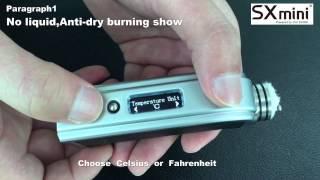 SXmini M Class Temperature Control Video