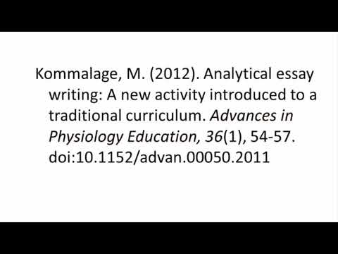 APA (6th ed.). - Referencing a JOURNAL ARTICLE