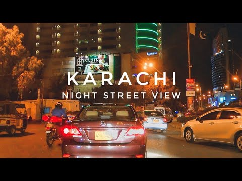 KARACHI City Night Street View - Expedition Pakistan
