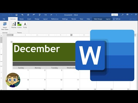 Creating A Calendar In Microsoft Word