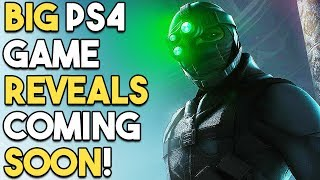 BIG PS4 Game REVEALS Coming SOON - NEW Splinter Cell, Exclusives and MORE!