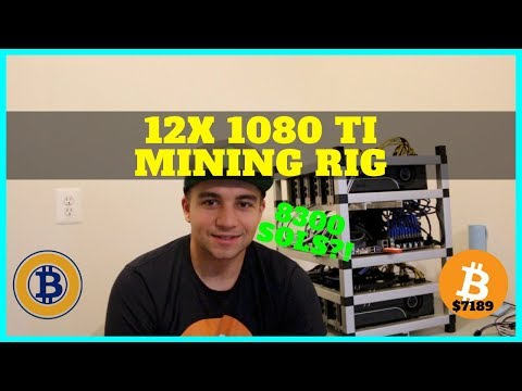 How To Build A 12+ Card GPU Nvidia 1080 TI Mining Rig - 8300 Sols
