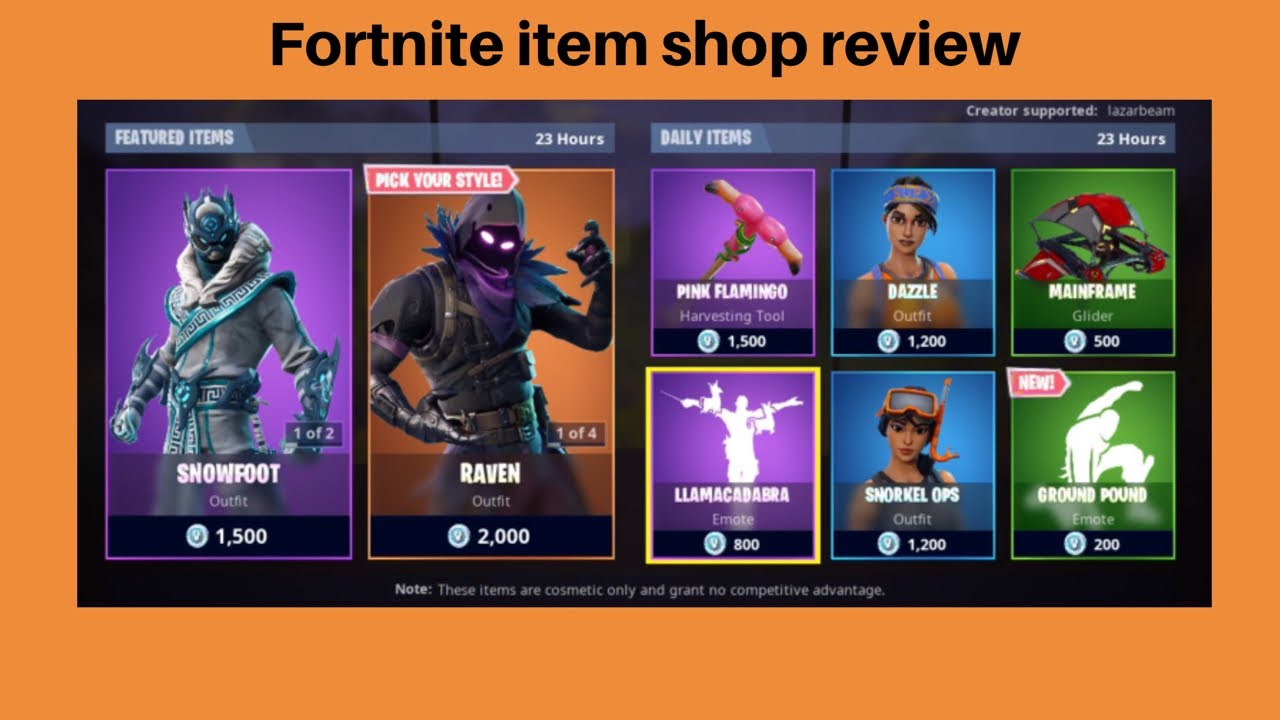 Fortnite: Item shop review - January 4, 2019 - YouTube