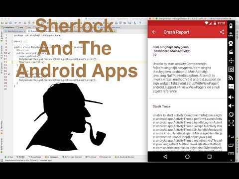 Integrating sherlock with android apps to get crash reports