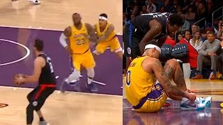 Kyle Kuzma Shoves LeBron James to Play Defence Then Gets Instant Karma ! Lakers vs Clippers
