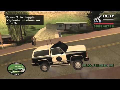 GTA San Andreas driving skill and weapons run