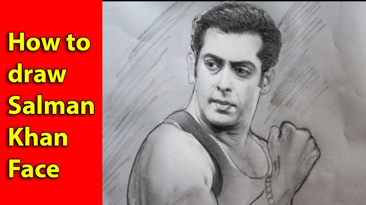 How To Drawing Salman Khan Face With Pencil Pencil Sketch Salman Khan Full HD 1080 P - YouTube