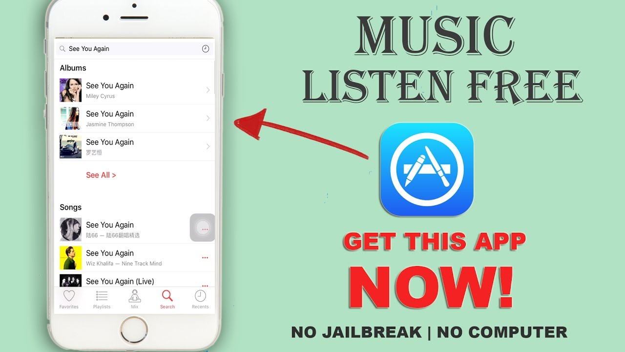 listen to songs free on iphone