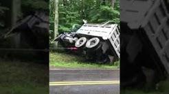 Dump truck rollover accident in Western Massachusetts