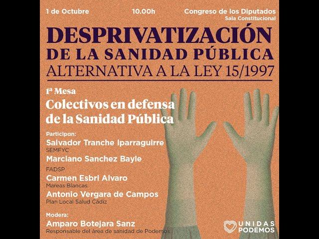 Colectivos por la sanidad pública