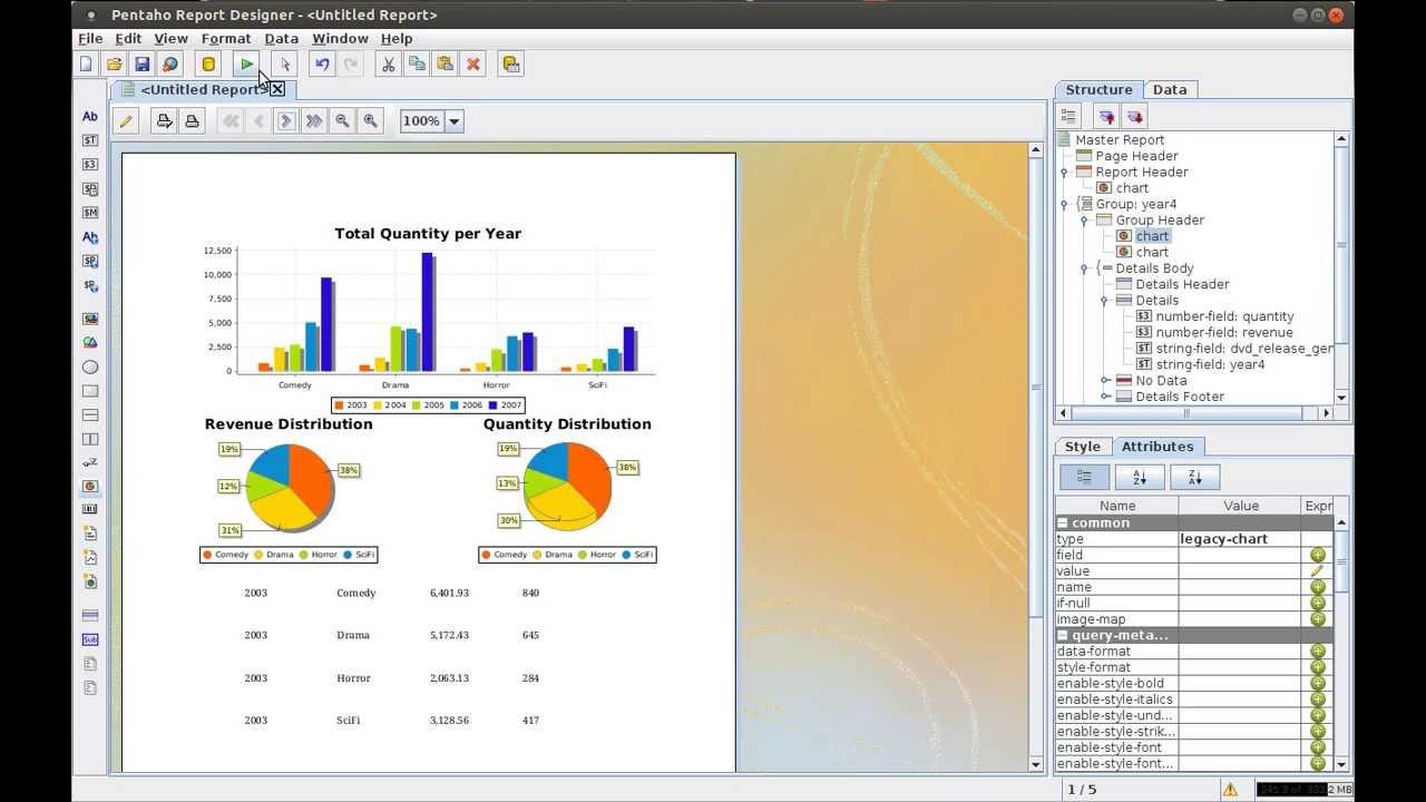 Creating reports with Pentaho Report Designer - Part 7: Adding ...