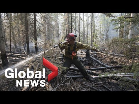 Alberta Wildfires: Fire Spreading Away From Town Of High Level