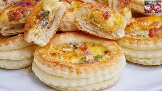 Bánh Ngàn Lớp nhân Mặn - Cách làm Bánh Ngàn Lớp và Muffin mặn cho các bữa tiệc nhỏ by Vanh Khuyen