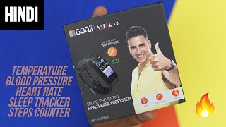 Goqii Vital 3.0 - Measure Temperature, Heart Rate Body Vitals with Smart Band | Hindi screenshot 4