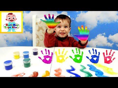 РАЗНОЦВЕТНЫЕ ПАЛЬЧИКИ Учим Цвета  :))) Песенка для детей Learn colors with MULTI-COLORED FINGERS!