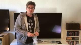 Samsung KS8090 4K SUHD Fernseher Unboxing und Montage