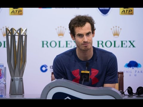 """Shanghai Rolex Masters - Intimate chat  with """"Andy Murray"""" on his injuries."""