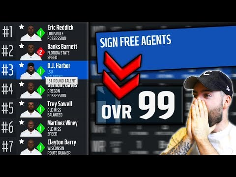 CRAZIEST WR CLASS EVER + 99 OVERALL IN FREE AGENCY! (Madden 18 Relo Draft Build Pt. 1)