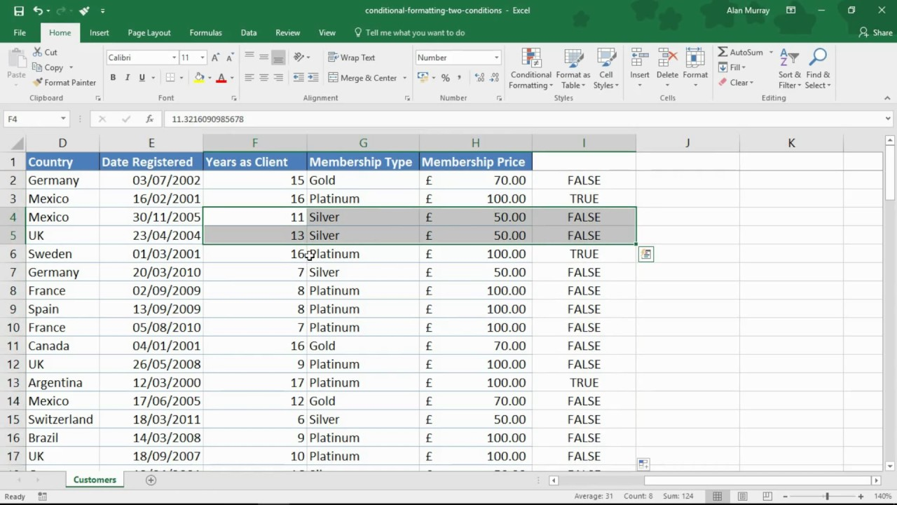 Conditional Formatting with Two Conditions   Excel Tip