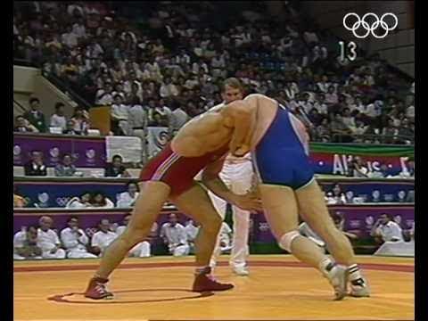 Олимпийские игры 1988 вольная борьба (финал 74 кг) Адлан Вараев (USSR) Vs Кеннет Мондей (USA)