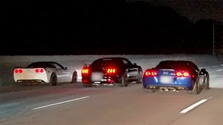 Battle of the V8s! CORVETTE vs MUSTANG!