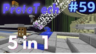ProtoTech SMP #59 | All in one!- obsidian, shulker shell, sand, concrete and dragon egg farm!