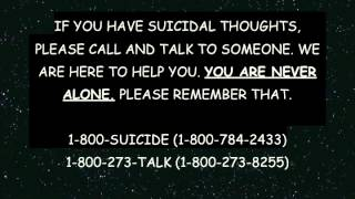 Watch if you know anyone with a suicide problem, even yourself