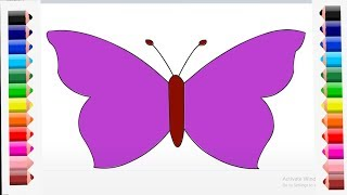 How to draw a butterfly very easy for kids.