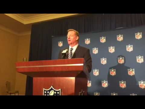 Roger Goodell NFL Commissioner Press Conference At Fall League Meeting 2016 Pt2