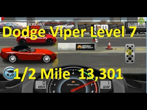 Drag Racing Dodge Viper SRT-10 Level 7 Tune 13,301 1/2 Mile