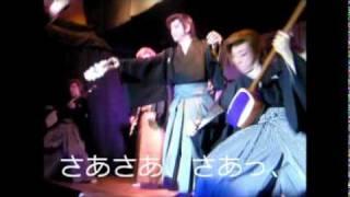 良さま中心に団体で、勇壮に踊ります。 いいねえ、、いきおいがあるし、...