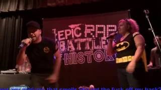 Adam vs Eve (w/Fan Challenges). Epic Rap Battles of History LIVE in Borger, Texas.