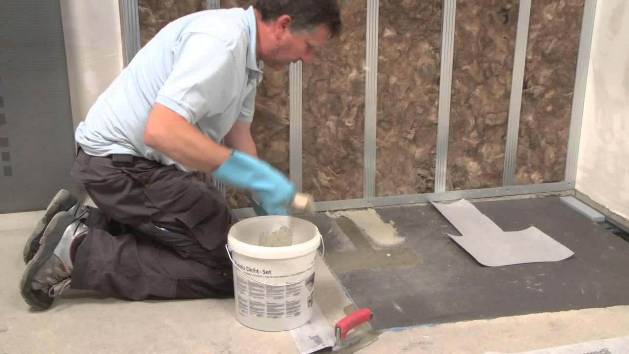 Wedi | De - Training: Bodengleiche Dusche Fundo Plano Linea Einbauen